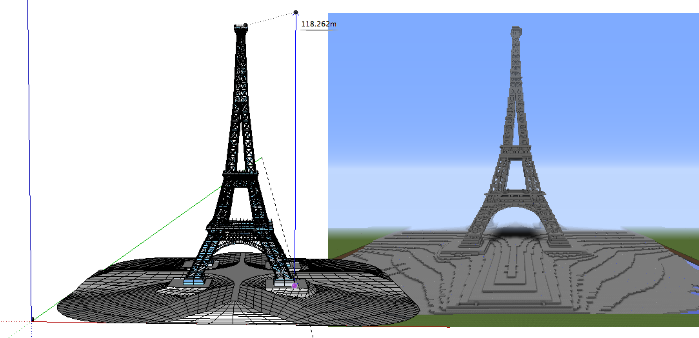 SketchUp Models in Minecraft | Little Bytes of Pi